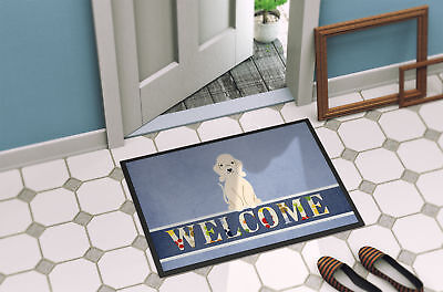 Bedlington Terrier Sandy Welcome Indoor or Outdoor Mat 18x27