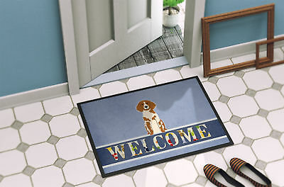 Brittany Spaniel Welcome Indoor or Outdoor Mat 18x27