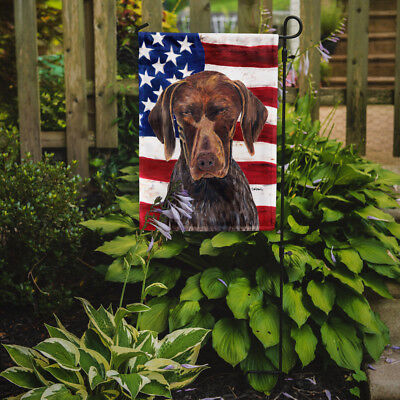 USA American Flag with German Shorthaired Pointer Flag Garden Size