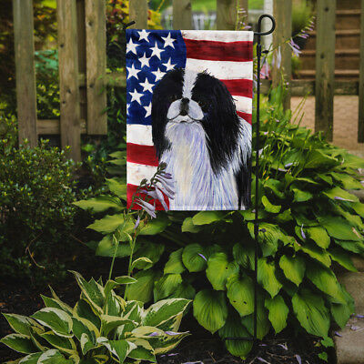Carolines Treasures  SS4223GF USA American Flag with Japanese Chin Flag Garden S