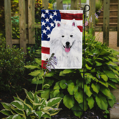 Carolines Treasures  SC9023GF USA American Flag with American Eskimo Flag Garden