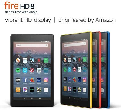 """Amazon Fire 8 Tablet with Alexa, 8"""" HD, 16GB or 32GB, 2017 - 4 COLORS- BRAND NEW"""