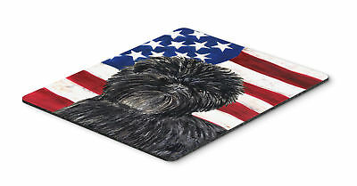 USA American Flag with Affenpinscher Mouse Pad, Hot Pad or Trivet