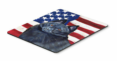USA American Flag with Schipperke Mouse Pad, Hot Pad or Trivet