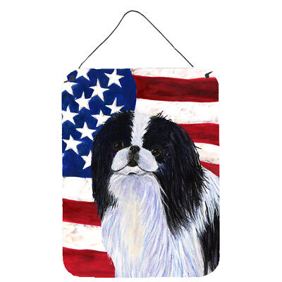 USA American Flag with Japanese Chin Wall or Door Hanging Prints