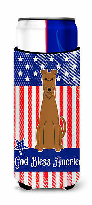Patriotic USA Irish Terrier Michelob Ultra Hugger for slim cans