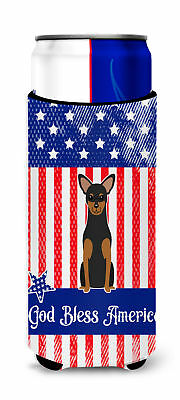 Patriotic USA Manchester Terrier Michelob Ultra Hugger for slim cans