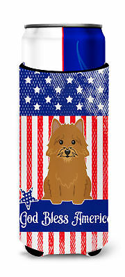 Patriotic USA Norwich Terrier Michelob Ultra Hugger for slim cans