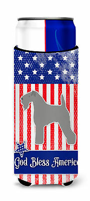 USA Patriotic Kerry Blue Terrier Michelob Ultra Hugger for slim cans
