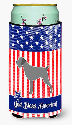 USA Patriotic German Wirehaired Pointer Tall Boy Beverage Insulator Hugger