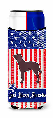 AUSA Patriotic merican Water Spaniel Michelob Ultra Hugger for slim cans