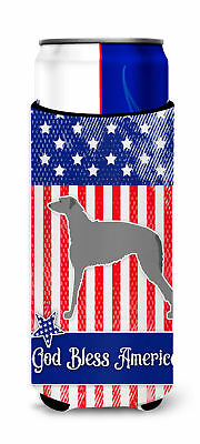 USA Patriotic Scottish Deerhound Michelob Ultra Hugger for slim cans