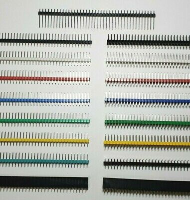Pin Header Connector Strips - M/F - Single/Double - Choose Colour - Free UK P&P