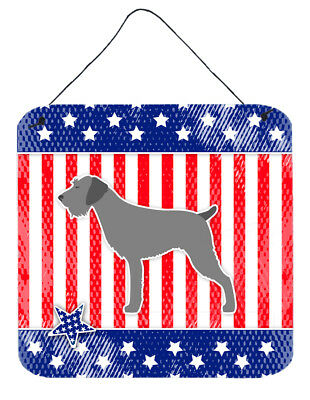 USA Patriotic German Wirehaired Pointer Wall or Door Hanging Prints