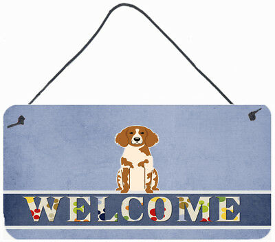 Brittany Spaniel Welcome Wall or Door Hanging Prints