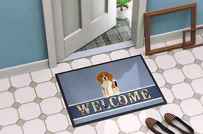 Beagle Tricolor Welcome Indoor or Outdoor Mat 18x27