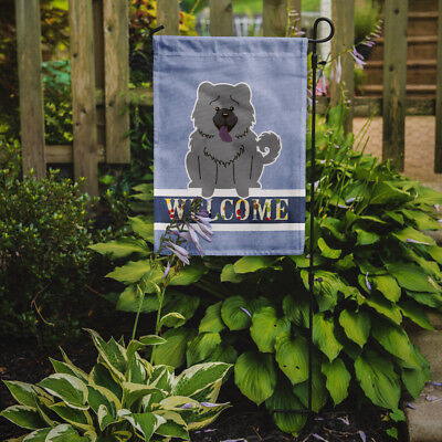 Carolines Treasures  BB5720GF Chow Chow Blue Welcome Flag Garden Size