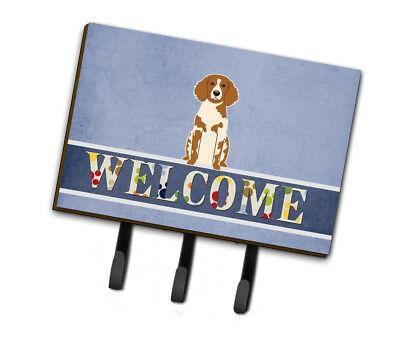 Carolines Treasures  BB5653TH68 Brittany Spaniel Welcome Leash or Key Holder