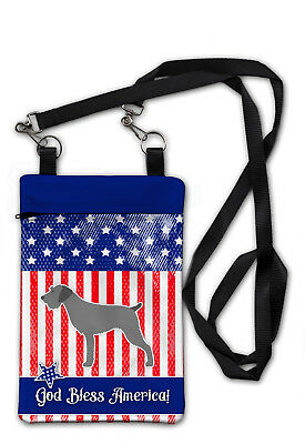 USA Patriotic German Wirehaired Pointer Crossbody Bag Purse