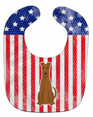 Carolines Treasures  BB3057BIB Patriotic USA Irish Terrier Baby Bib