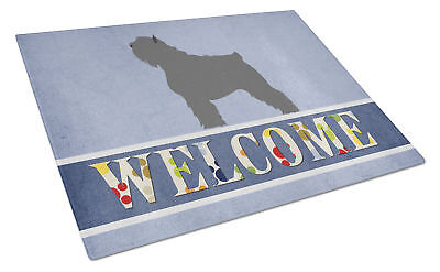 Bouvier des Flandres Welcome Glass Cutting Board Large