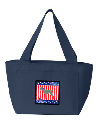 USA Patriotic German Wirehaired Pointer Lunch Bag