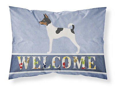 American Toy Fox Terrier Welcome Fabric Standard Pillowcase