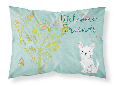 Welcome Friends Westie Fabric Standard Pillowcase