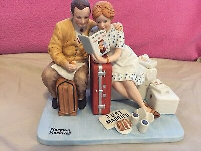 "Norman Rockwell "" Newlyweds"" Porcelain Figurine"