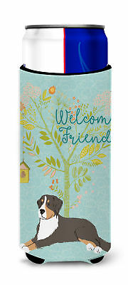 Welcome Friends Bernese Mountain Dog Michelob Ultra Hugger for slim cans