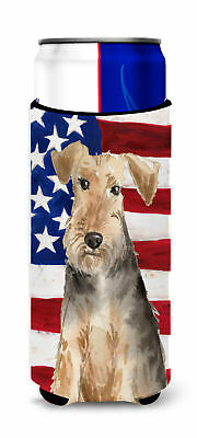 Patriotic USA Welsh Terrier Michelob Ultra Hugger for slim cans