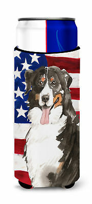 Patriotic USA Bernese Mountain Dog Michelob Ultra Hugger for slim cans