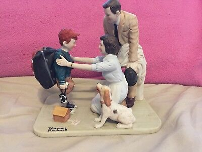 "Norman Rockwell ""Home From Camp"" Porcelain Figurine"