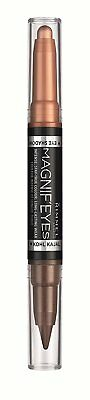 Rimmel Magnif'Eyes Double Ended Shadow & Liner  Kissed By A Rose Gold 002
