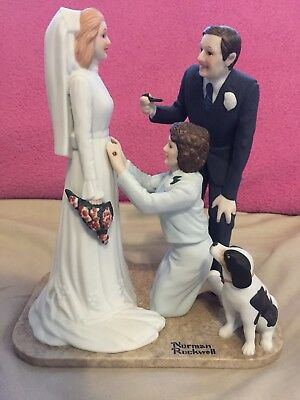 "Norman Rockwell ""Bride To Be"" Porcelain Figurine"