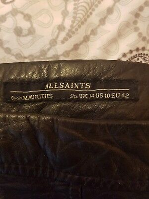 All saints Leather Skirts