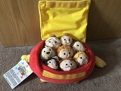 Disney Tsum Tsum Beauty And The Beast Set In Footstool Case - Brand New