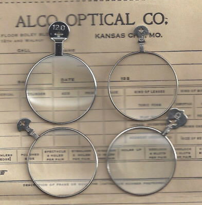 4 Magnifying type trial or optical Monocle type lenses