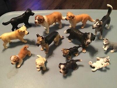 Schleich Dog assortment (13) Made in Germany