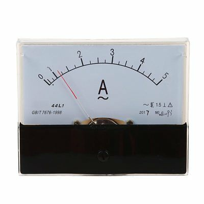 AC 5A Rectangle Analog Ampere Meter Panel Meter 44L1-A M8C7