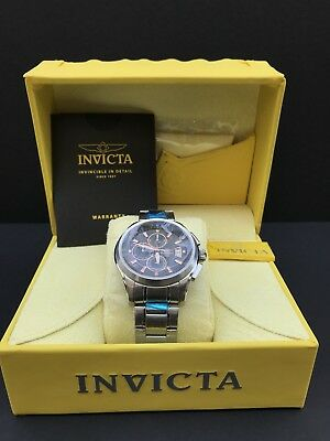 New Invicta Specialty 1483 Men's Round Brown Chronograph Date Analog Watch