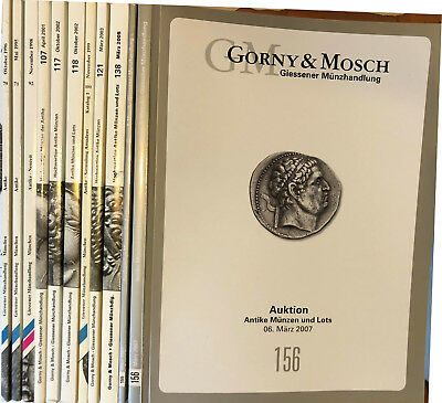 Gorny & Mosch. Ancient Gold Silver Greek Roman Lot of 11 Auction Catalog Book
