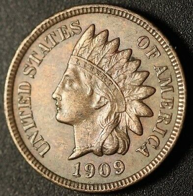 1909 S Indian Head Cent Penny High Grade Collection VF Beautiful Coin!