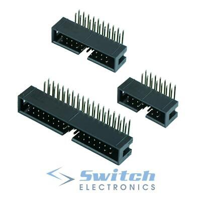 IDC Right Angle Pin PCB Boxed Header Connector 2.54mm - 10 to 40 Ways
