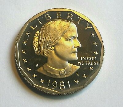 1981 S Type Two Susan B Anthony   Proof Dollar