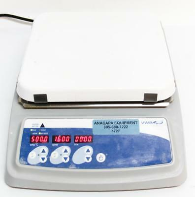 VWR 10x10 Ceramic Hotplate/Stir Digital Unit 120V Pro 97042-754 500˚C Max (4727)