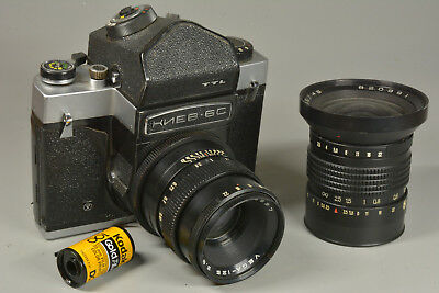 Vintage Russian Kiev 6C with TWO Lenses 90mm 45mm TTL Prism -- Ships from USA