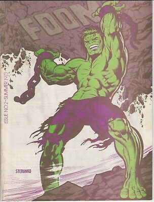 Foom #2 1St Appearance Wolverine Prototype - Vf Steranko Cover No Postage Label!