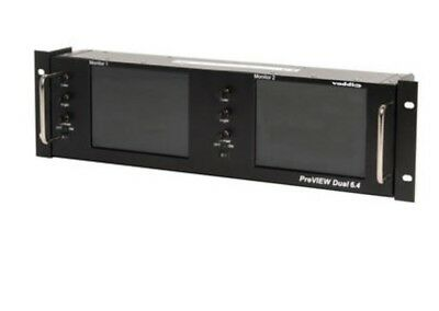 VADDIO PreVIEW Dual 6.4 LCD Rack Mount SD Video Monitor 999-5500-002 Tilting