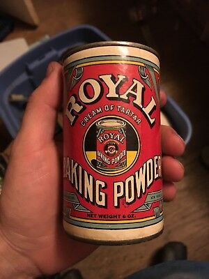 Antique Vintage Royal Baking Powder Can With Contents New York NY 6 Oz Standard
